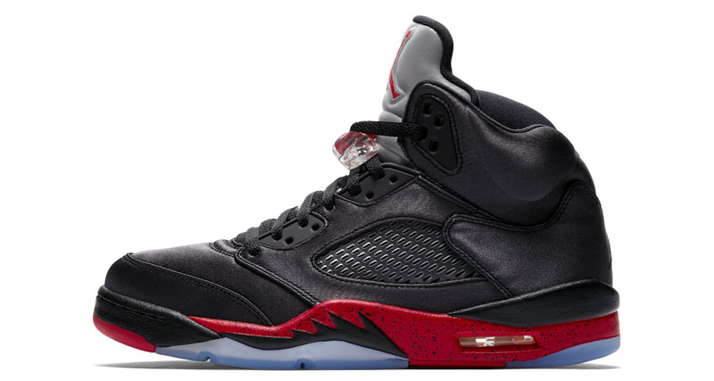 bbc325252b5001 ... shopping air jordan 5 satin black red holiday 2018 nice kicks 4fde6  0253b