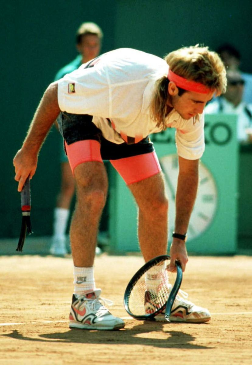 Drawing the line between bold and gaudy. Agassi's style was smashing.