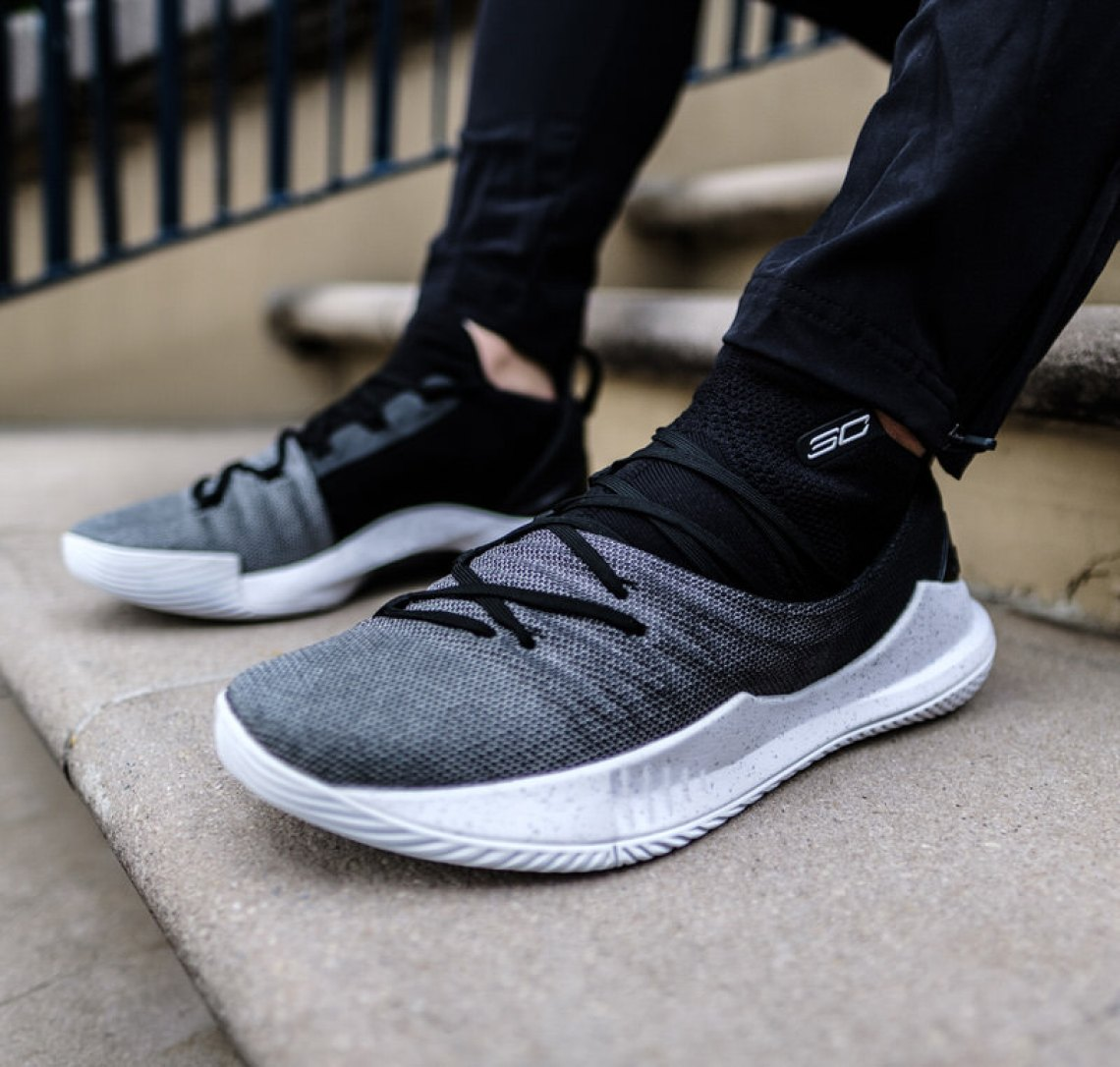buy online 20e09 db23c On Foot Look    Under Armour Curry 5 In Black   Grey   White