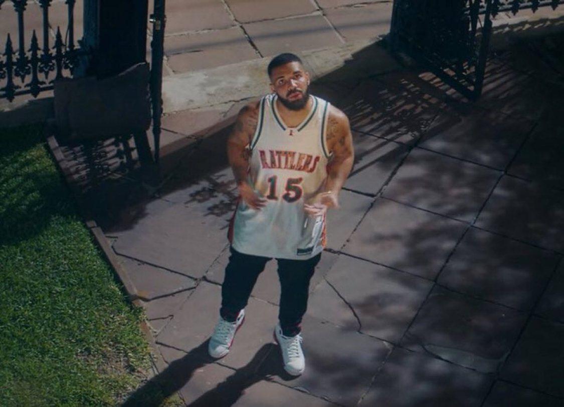 """Drake in the Air Jordan 5 Retro 'Fire Red"""""""
