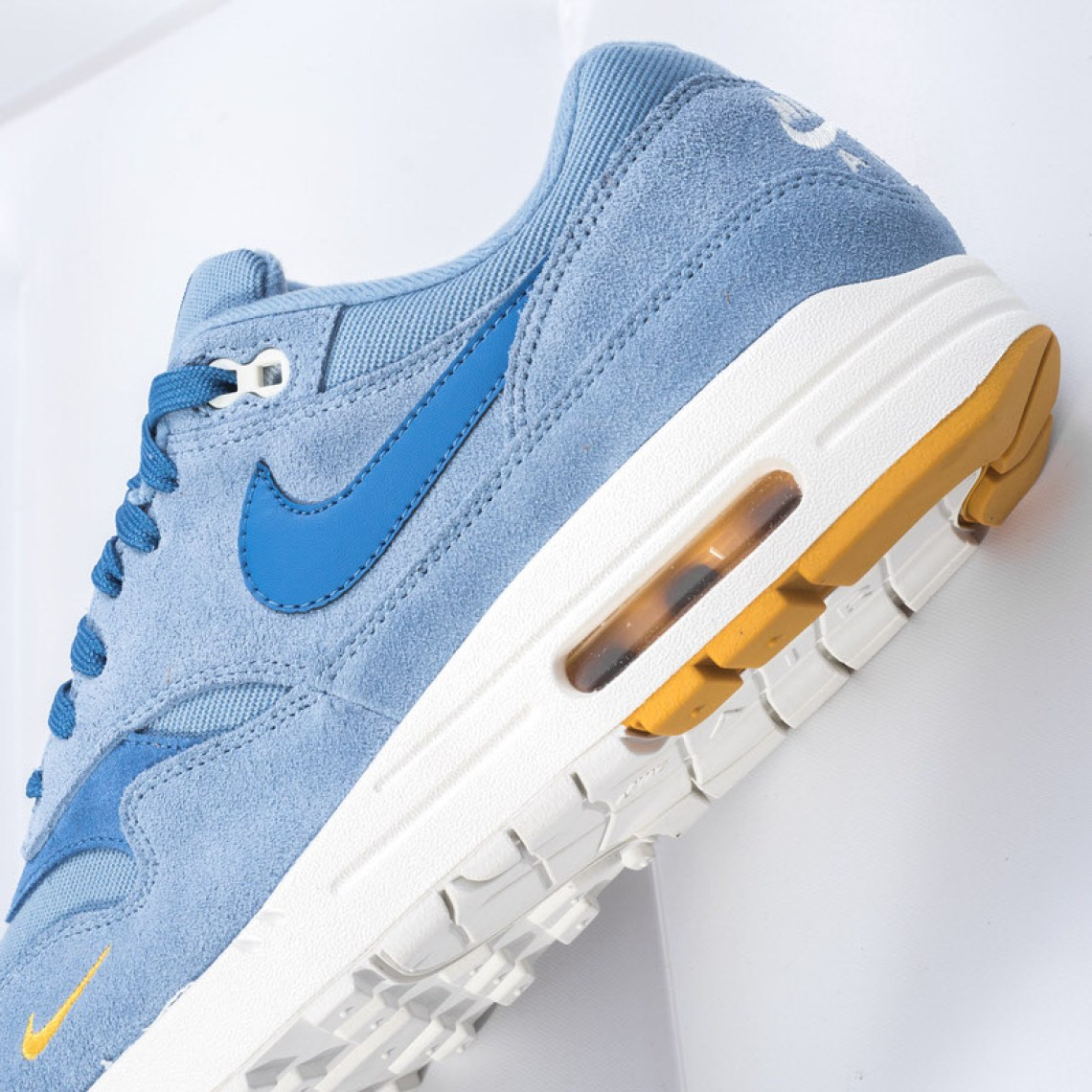 "The Nike Air Max 1 Premium ""Work Blue"" is available now at Sneaker Politics. e9af292d2"