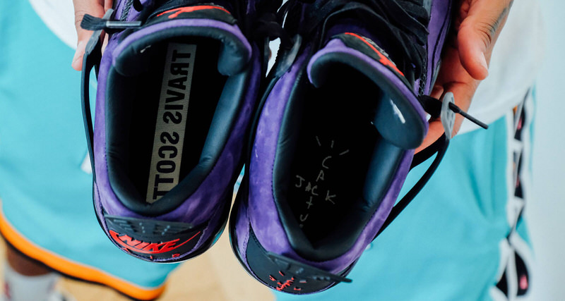 "1866a5357c8a Travis Scott x Air Jordan 4 ""Purple Suede""    Another Look"