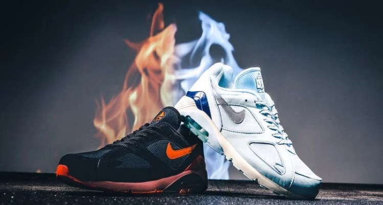 "buy popular 0390f 53aba Nike Air Max 180 ""Fire   Ice"" Pack Just Released"