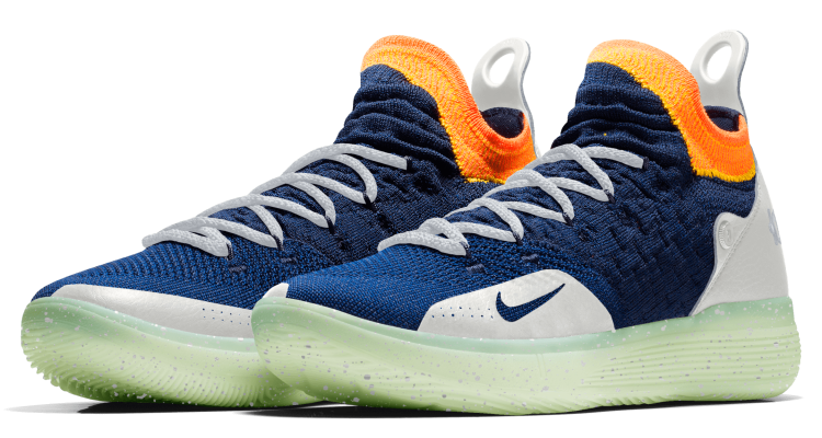 brand new b940e 45a51 NIKEiD KD11 Offers Full Flyknit  Glow-in-the-Dark Details