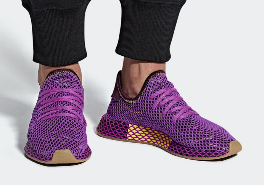 "huge discount 2bb22 a190e Check out the official photos of the Dragon Ball Z x adidas Deerupt ""Son  Gohan"" via Sneakerbardetroit below."
