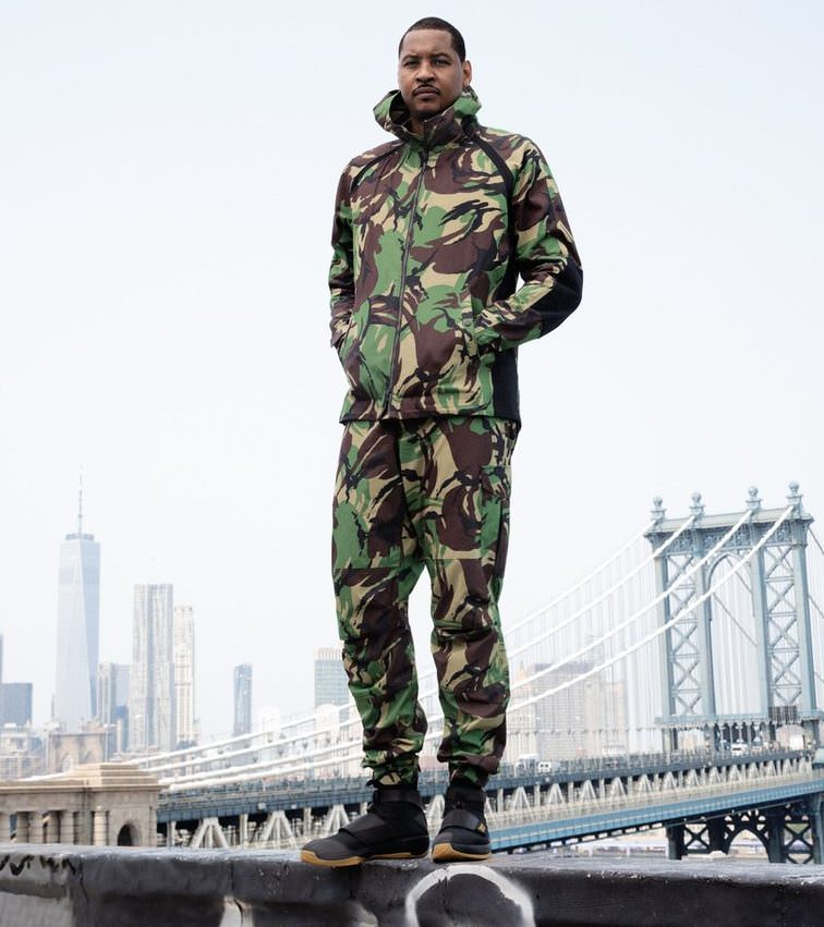 Carmelo Anthony in the Rag & Bone x Air Jordan 20