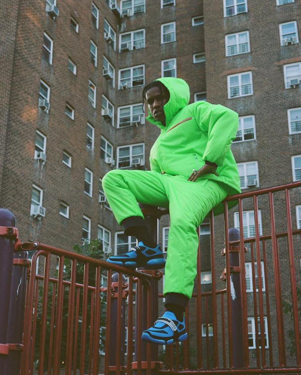 Asap Rocky in the Prada Cloudbust Sneakers