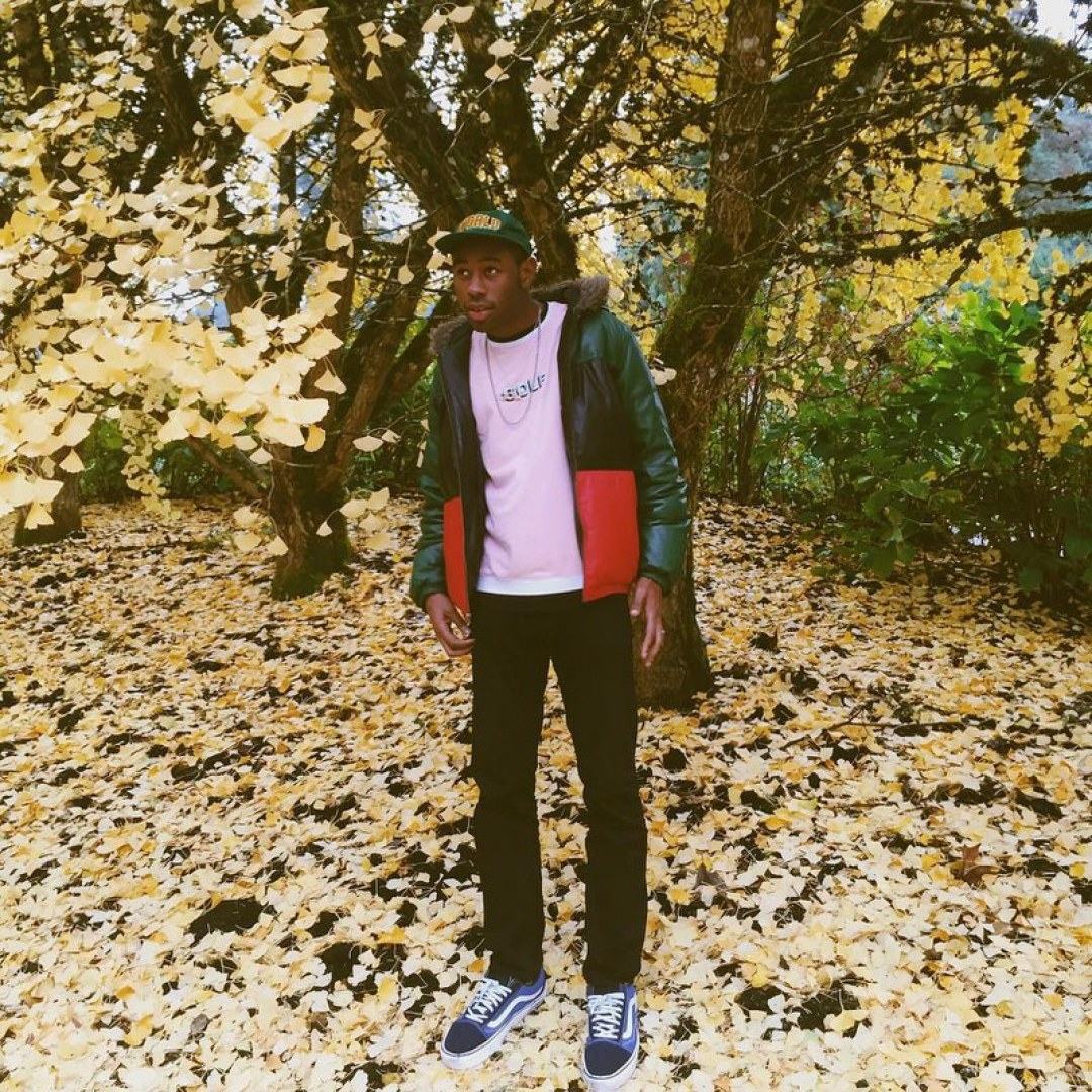 The flower inspiration behind Tyler the Creator's Golf le Fleur x Converse collection is finally evident. The shades of red and pink add some nice contrast to the otherwise fairly neutral look.