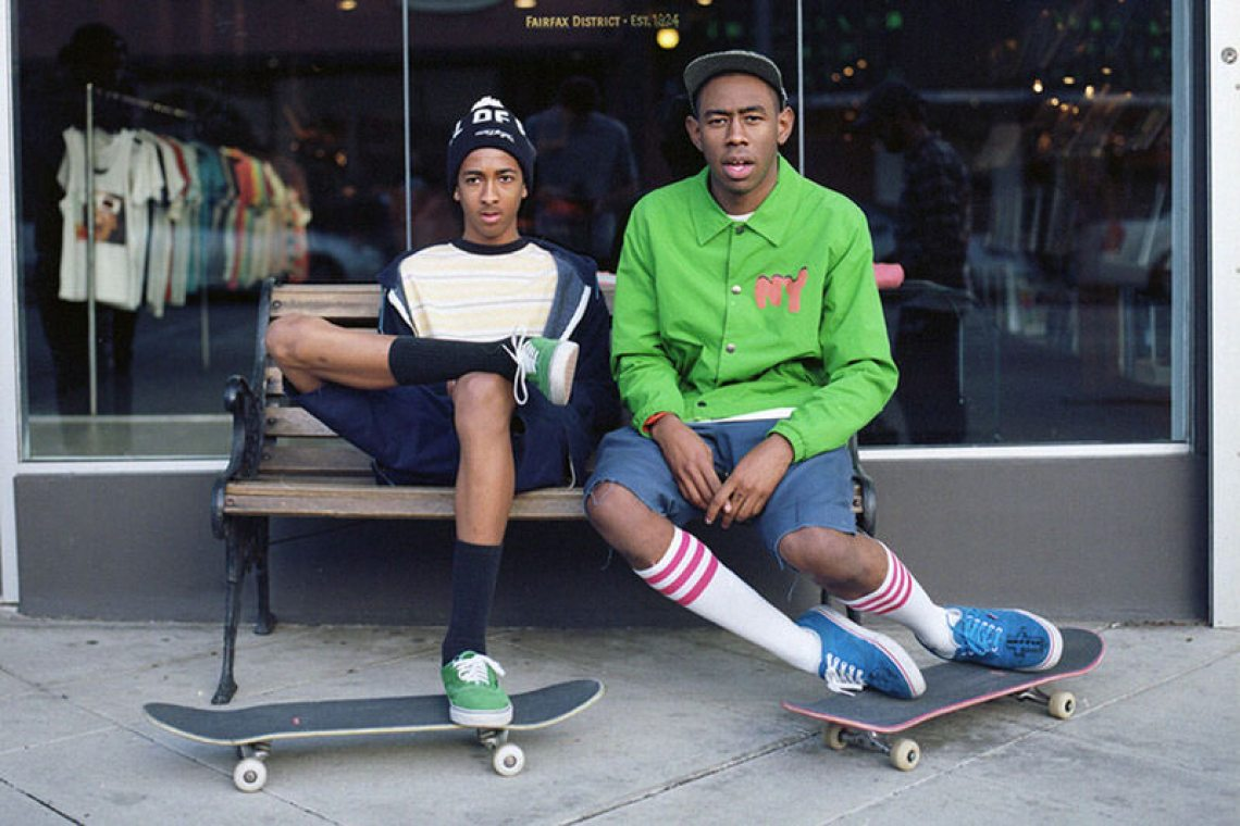 The future for fashion looks odd, but Tyler the Creator doesn't look too worried about it.