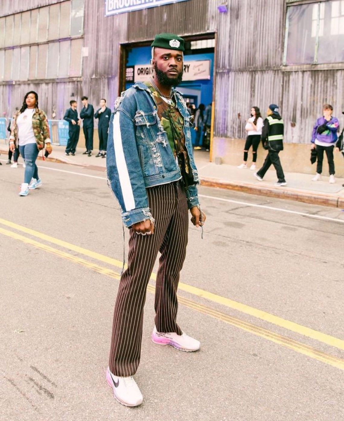 Gianni Lee in the Serena Williams x Off White x Nike Air Max 97