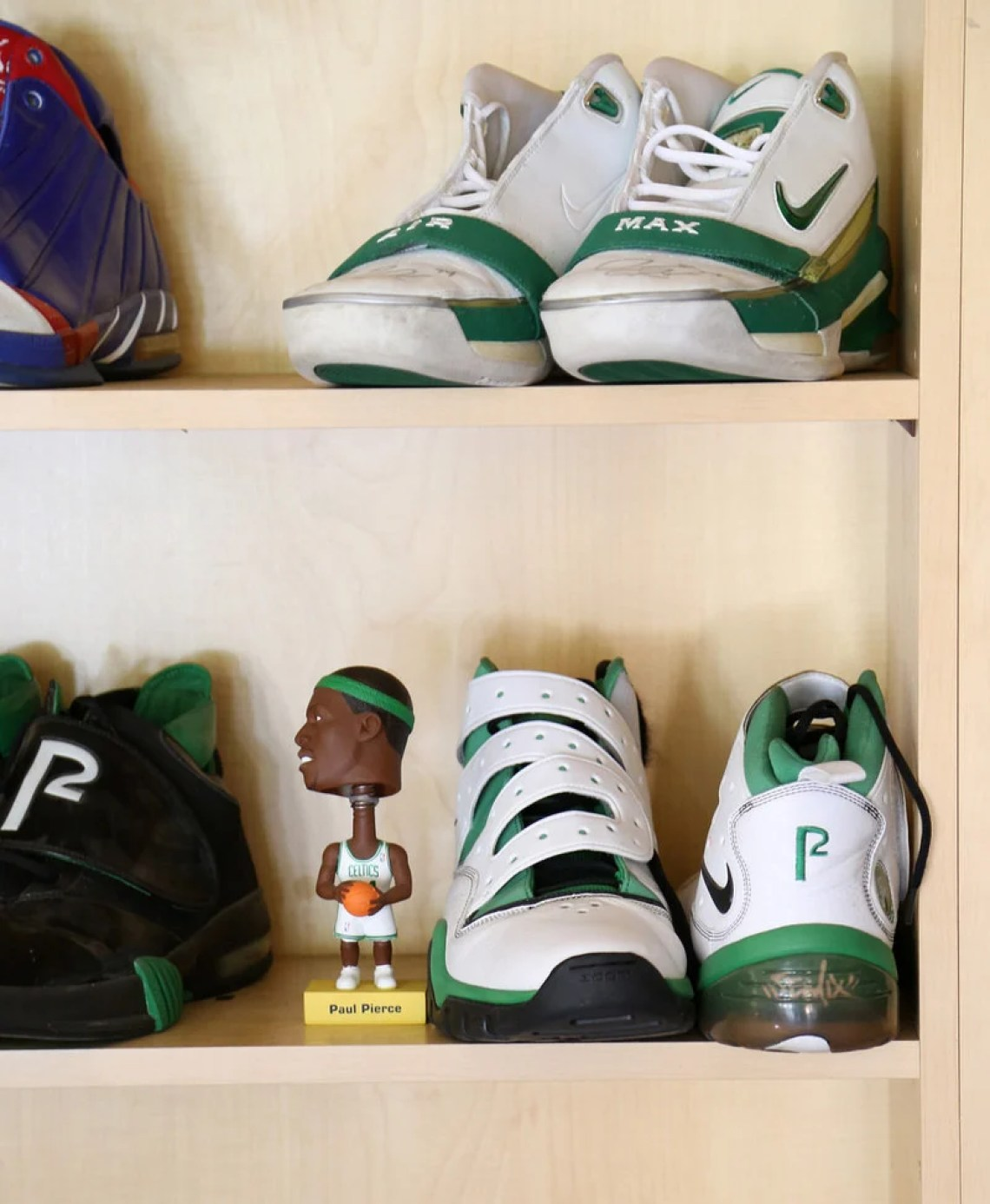 inside paul pierces collection of gameworn nike sneakers