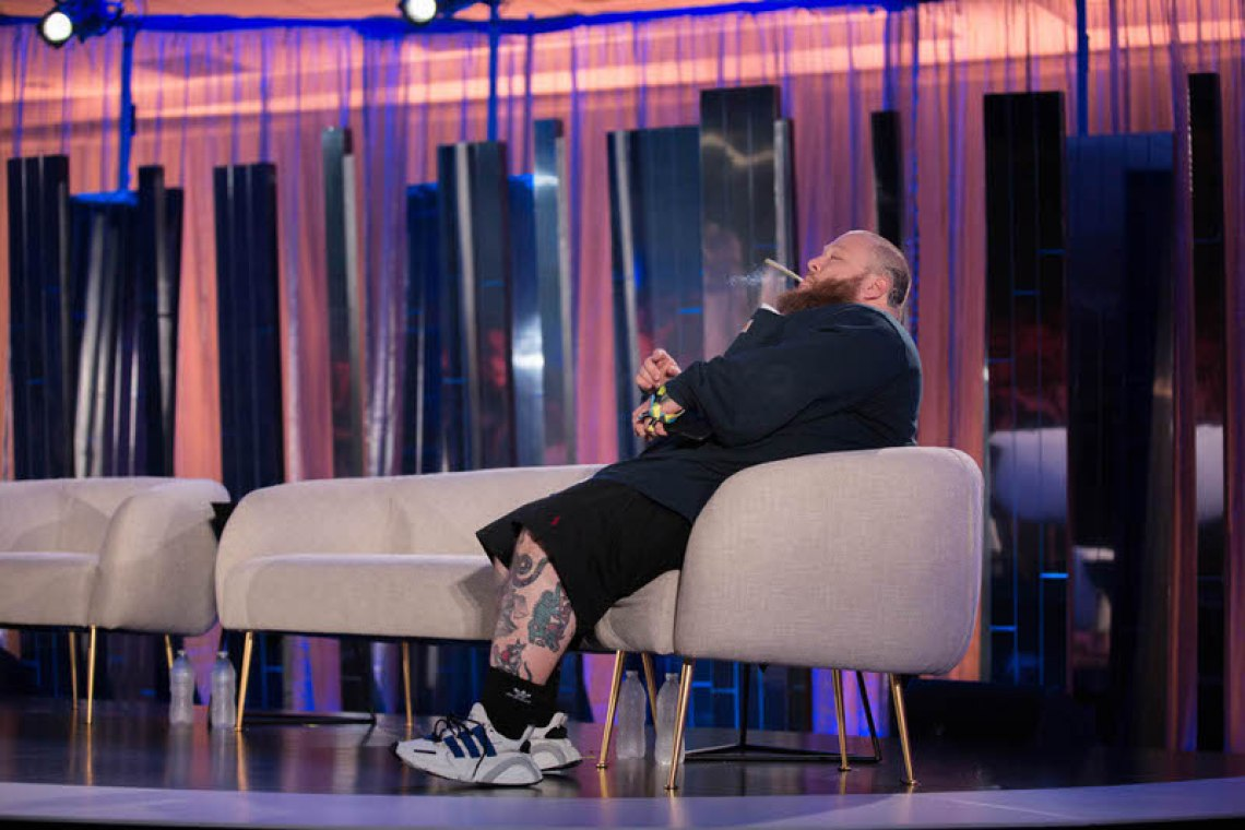 Action Bronson in the adidas EQT Cushion 2