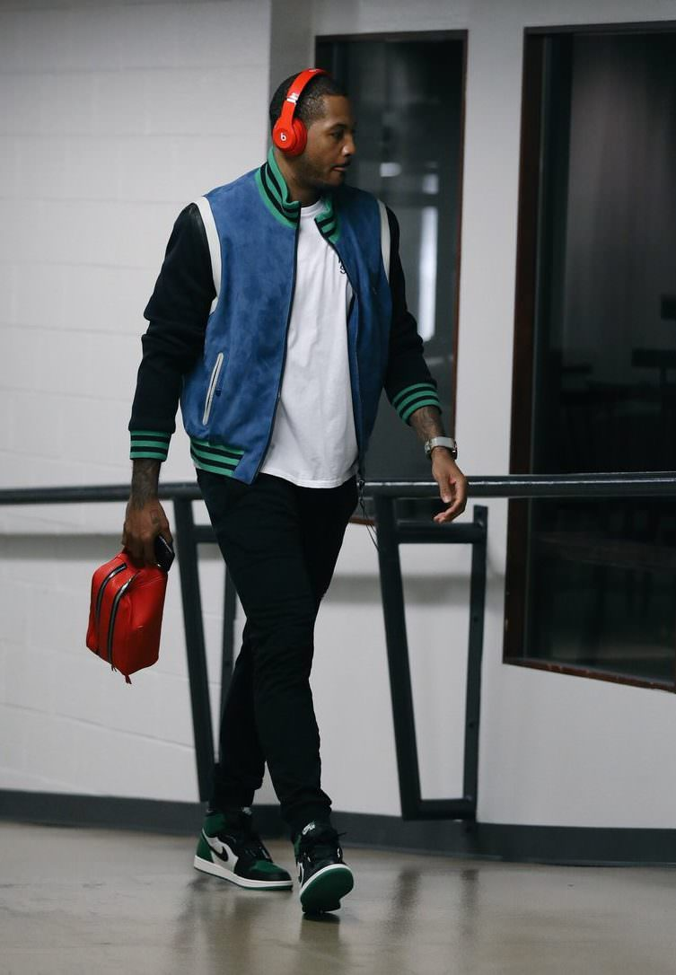 "Carmelo Anthony in the Air Jordan 1 Retro High OG ""Pine Green"""