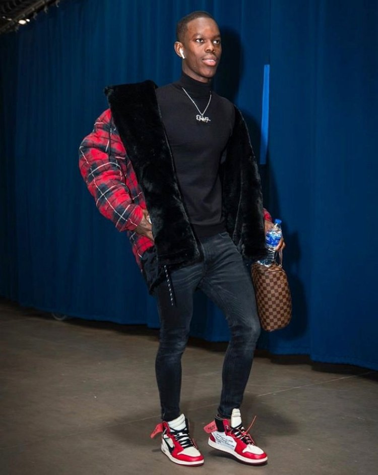 Dennis Schroder in the Off White x Air Jordan 1