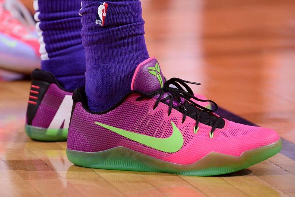 "Josh Hart in the Nike Kobe 11 Elite Low ""Mambacurial"" (Michael  Gonzales NBAE via Getty Images) ... 9ba28e49e"