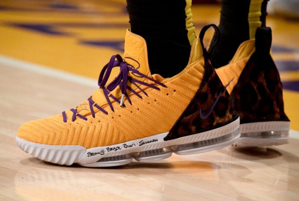 19acedc8d5eb LeBron James in the Nike LeBron 16 PE (via B R Kicks)