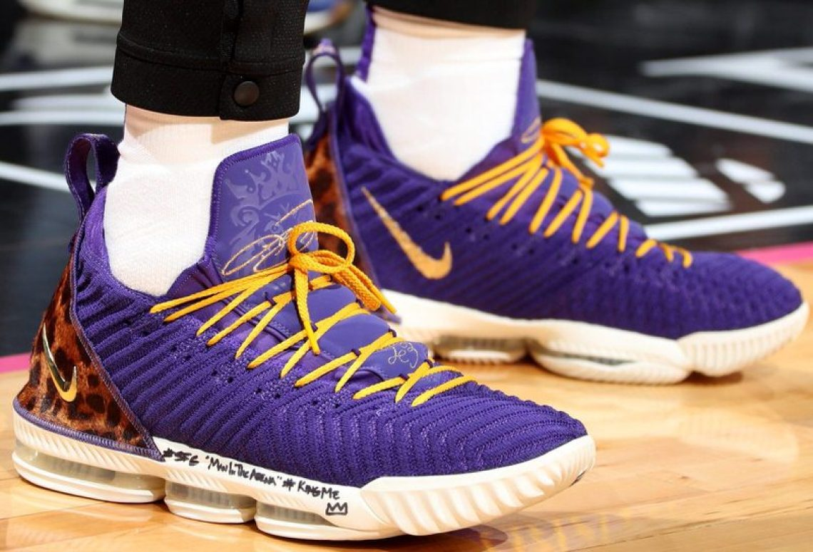 0433f45c25a862 LeBron James in the Nike LeBron 16 PE (Nathaniel S. Butler NBAE via Getty  Images)
