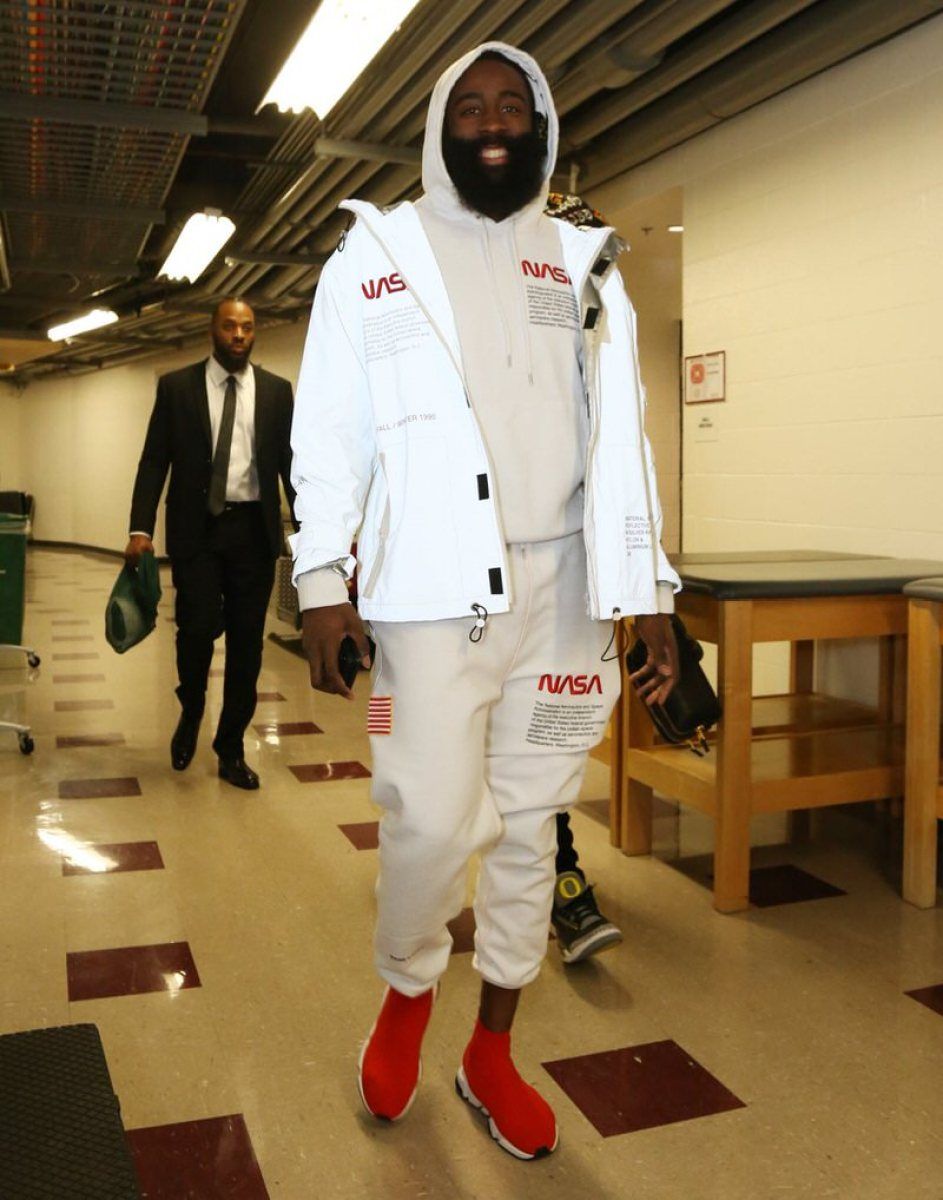 James Harden in the Balenciaga Speed Trainer
