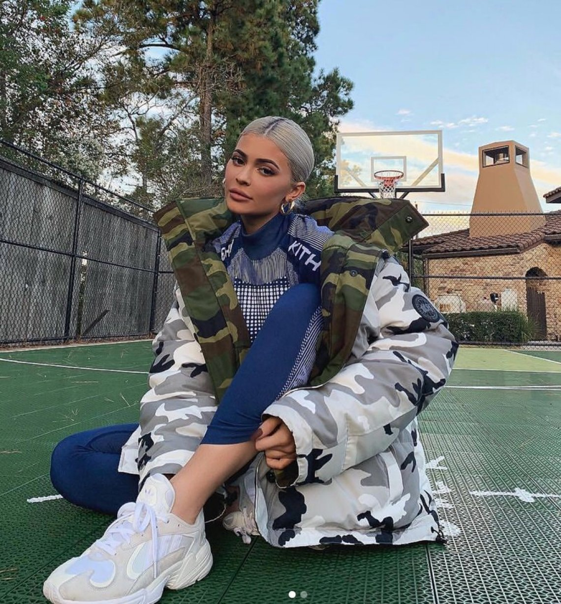 Kylie Jenner in the adidas Yung 1