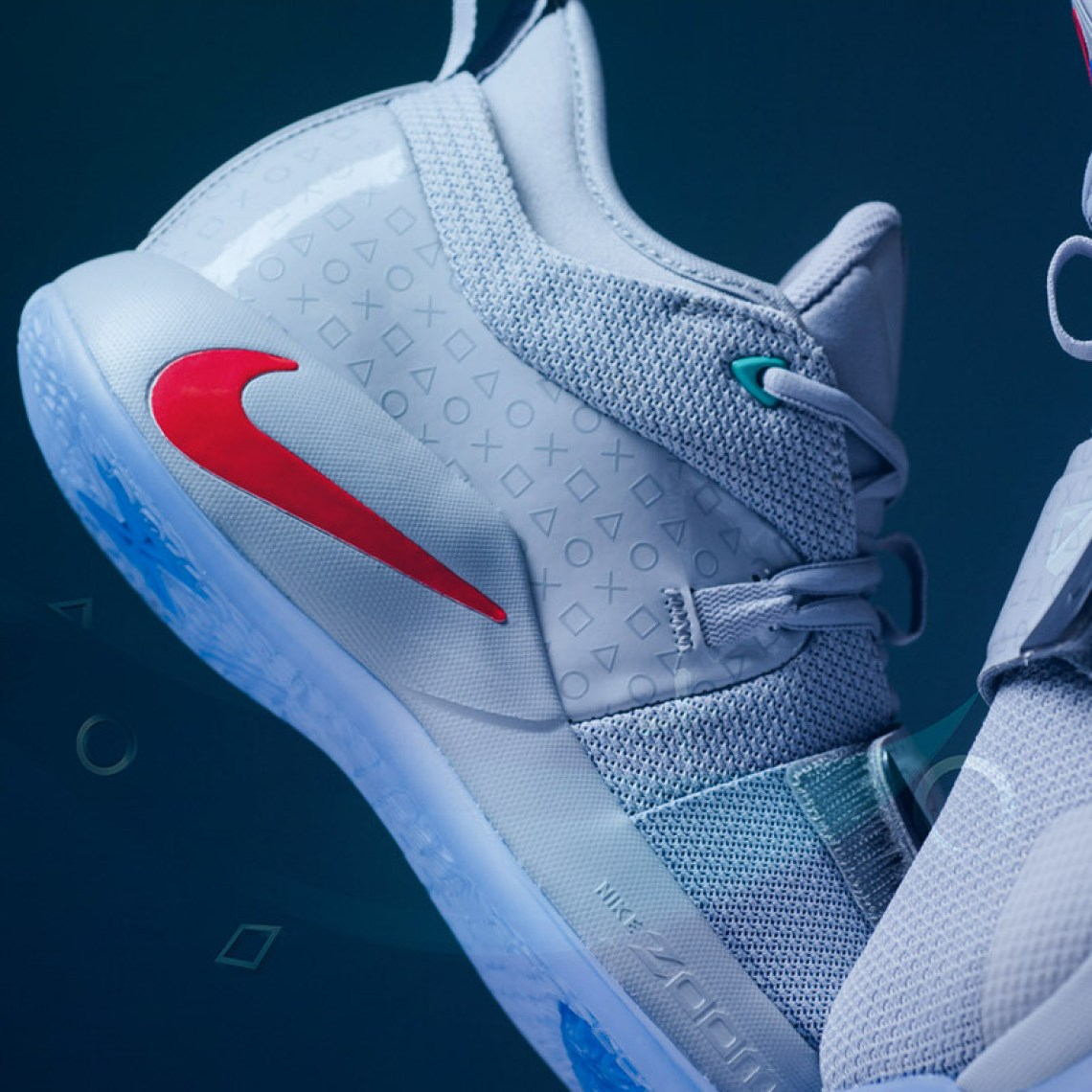 size 40 df713 78f14 Playstation X Nike Pg 2 5 Grey Arrives This Weekend Nice Kicks