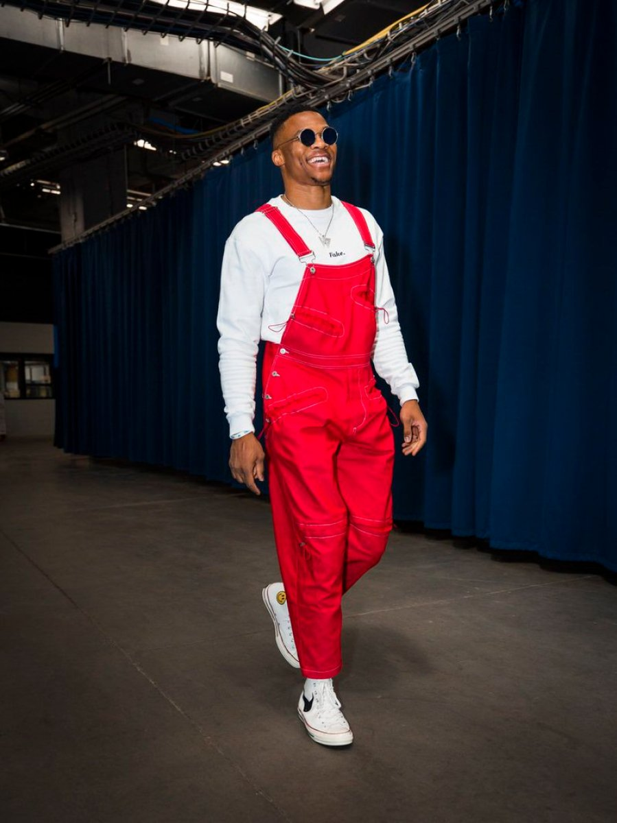 Russell Westbrook in the Chinatown Market x Chuck Taylor
