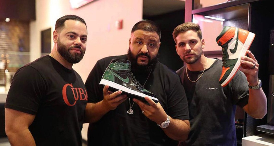 DJ Khaled with the SoleFly x Air Jordan 1