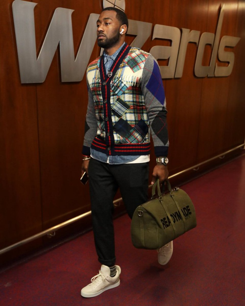 John Wall in the Louis Vuitton x Kanye West Don