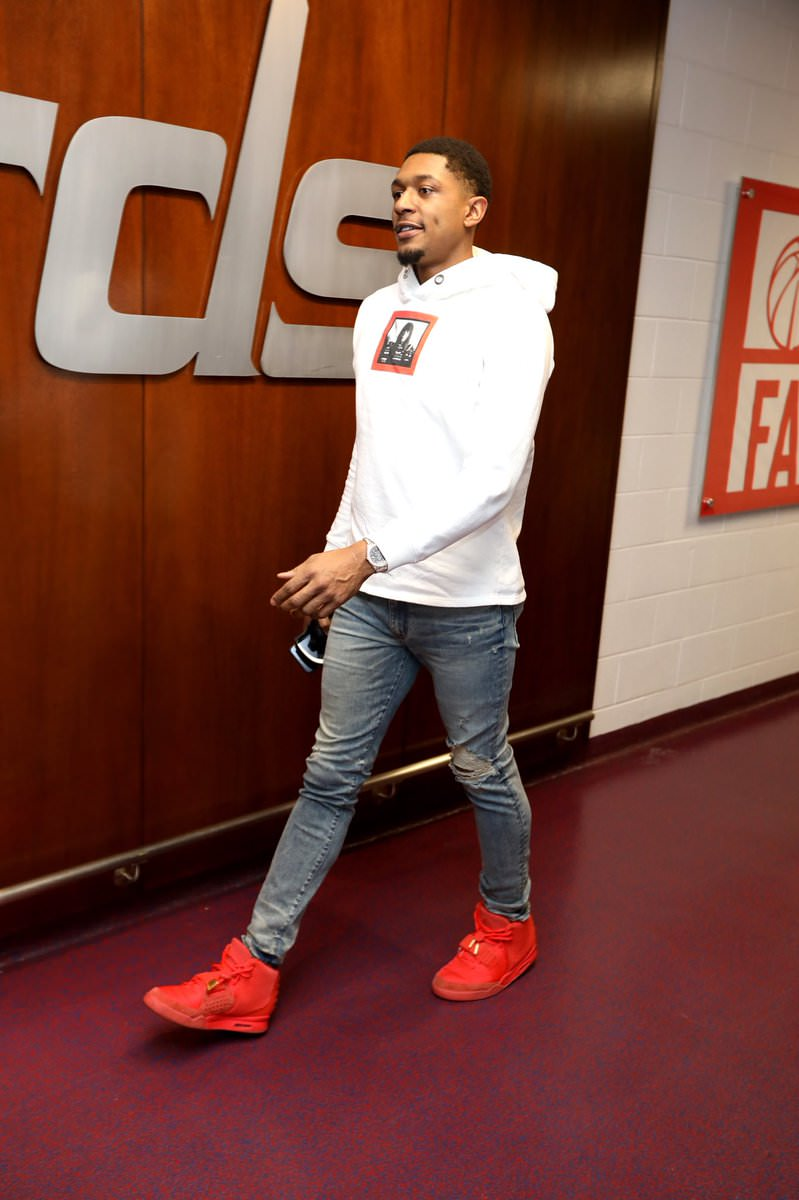 "Bradley Beal in the Nike Air Yeezy 2 ""Red October"""