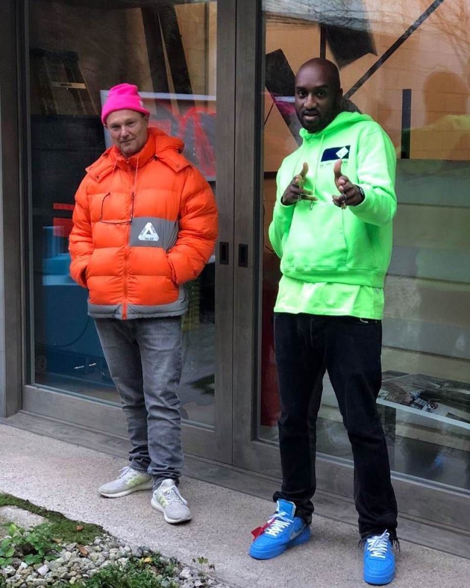 b47fe6f477a42 ... Virgil Abloh in the Off White x Nike Air Force 1 Low 'Blue