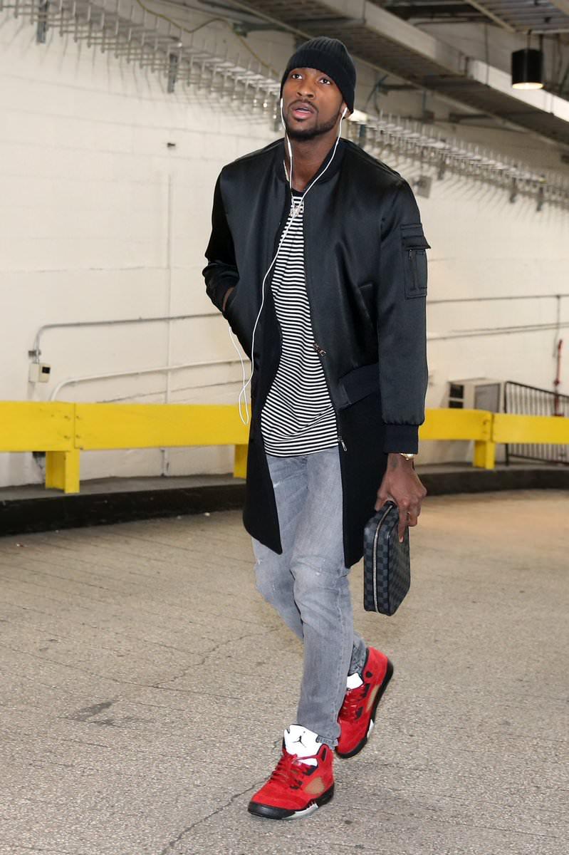 "Michael Kidd-Gilchrist in the Air Jordan 5 Retro ""Toro"""
