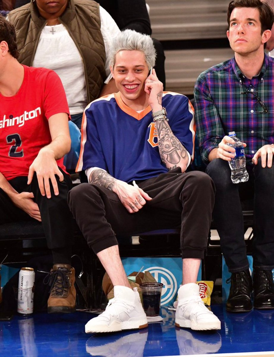 Pete Davidson in the Alexander Wang x adidas BBall
