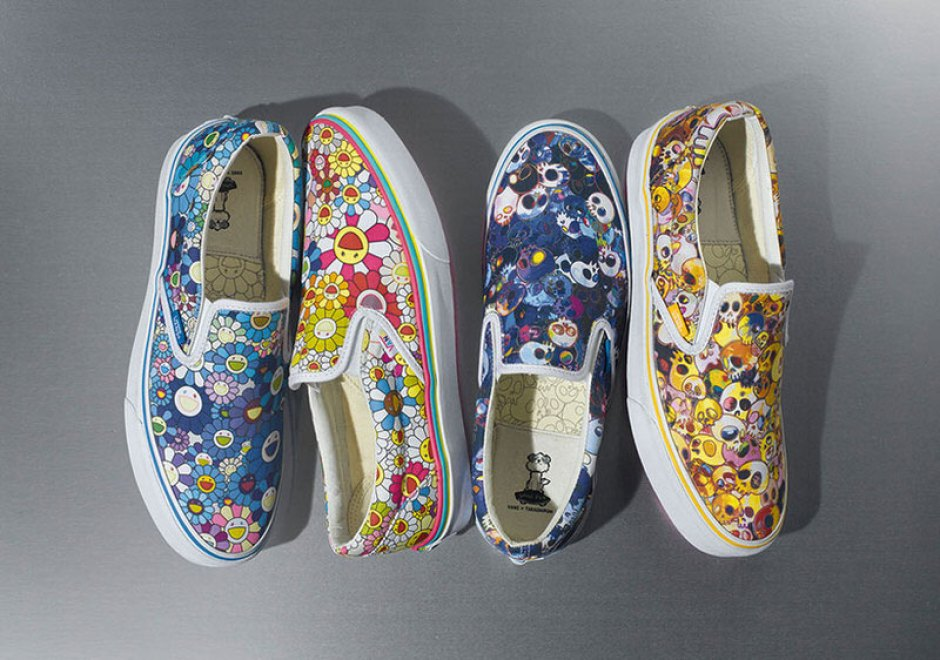 One of Murakami's favorite silhouettes is the Classic Slip-On, so it would make sense that he'd collaborate with Vans Vault to apply his signature prints onto the upper's blank canvas.