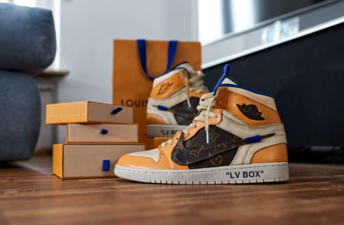 """9975994a271f Custom Nike Air Jordan 1 """"LV Box"""" by Sneakersnbonsai"""