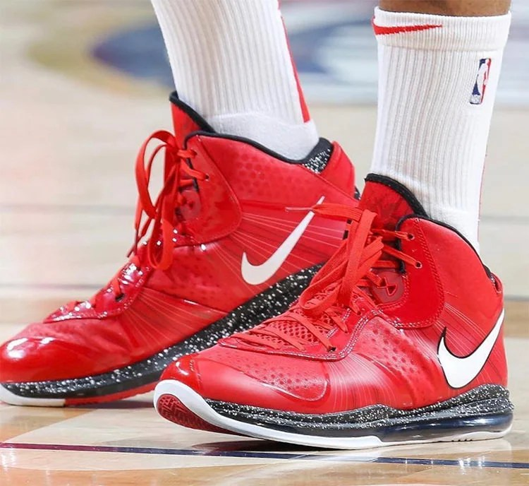 """169234882436 PJ Tucker in the Nike LeBron 8 V2 """"Christmas"""" — with a lace swap (photo by  Layne Murdoch Jr. NBAE via Getty Images) ..."""