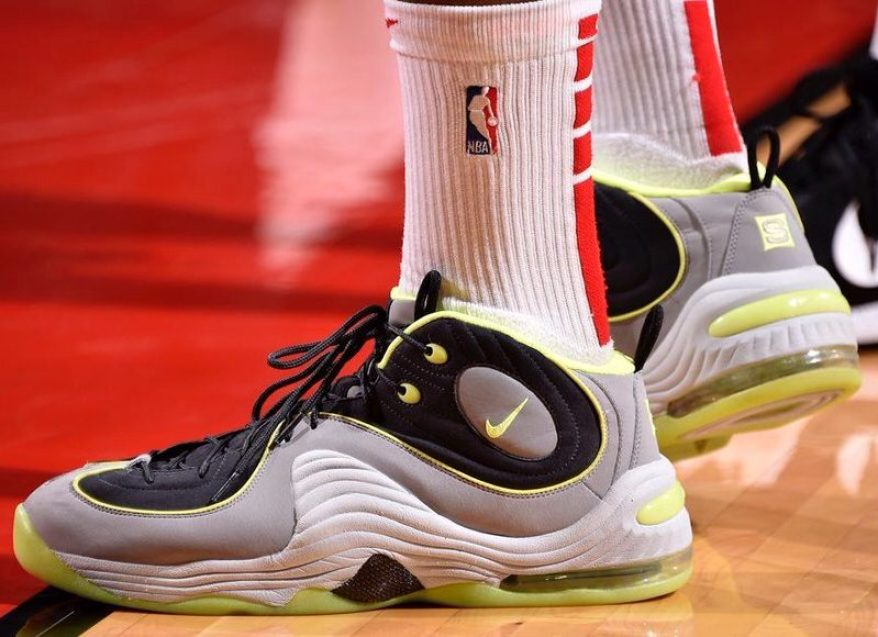 sale retailer 2d6aa a9b2f PJ Tucker in the Sole Collector x Nike Air Penny 2 (Bill Baptist NBAE via  Getty Images)