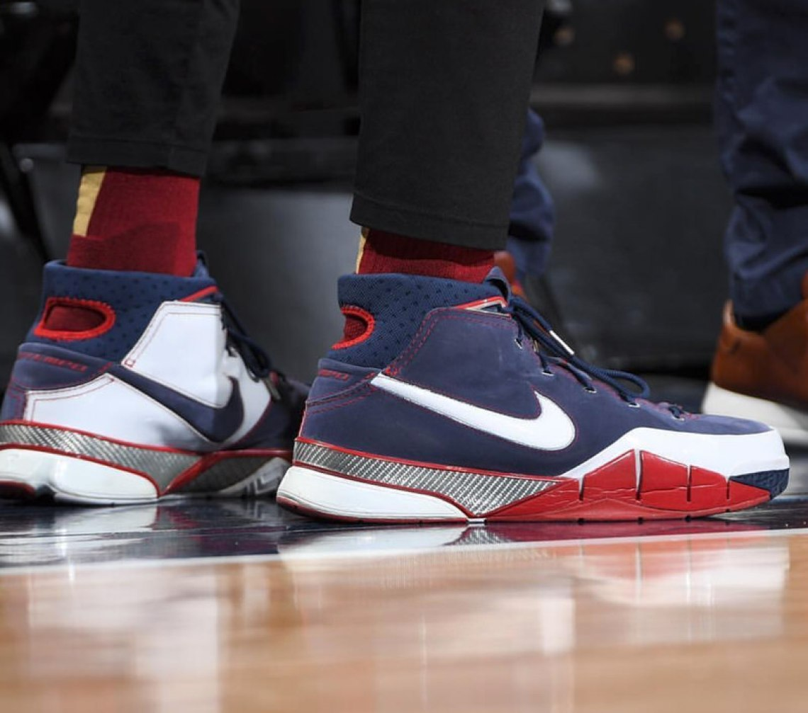 "sports shoes 905cd e5c49 ... PJ Tucker in the OG Nike Kobe 1 ""USA"" (photo by Garrett Ellwood NBAE  via Getty Images) ..."
