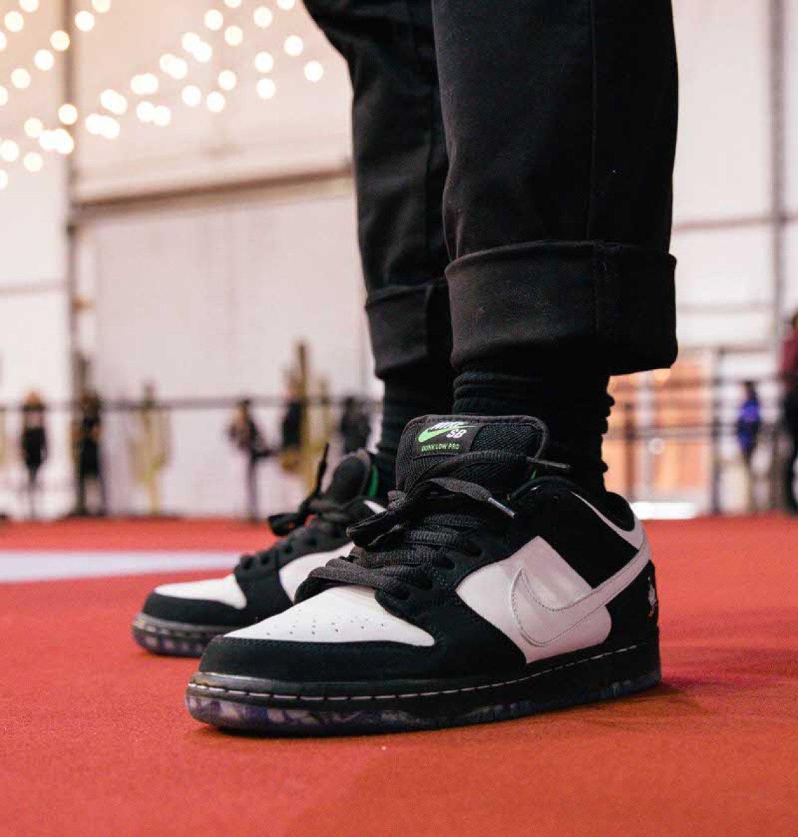 "Staple x Nike SB Dunk Low ""Pigeon Panda."""