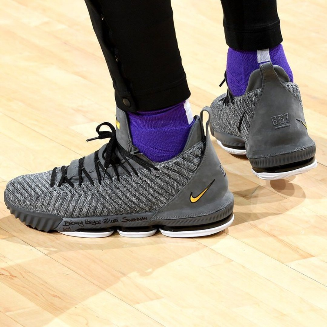 7af54b4412c ... LeBron James in the Nike LeBron 16 PE vs. Philadelphia 76ers (Andrew D.  Bernstein NBAE via Getty Images) ...