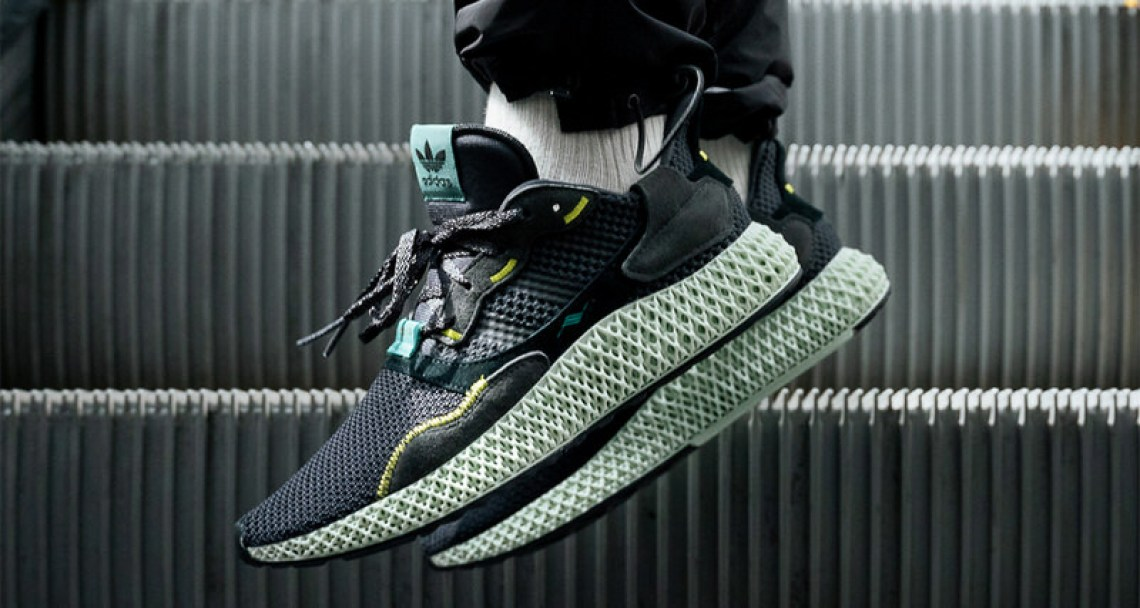 "pretty nice ce39b e7dcd adidas ZX4000 4D Follow-Up Release Arrives in ""Carbon"""