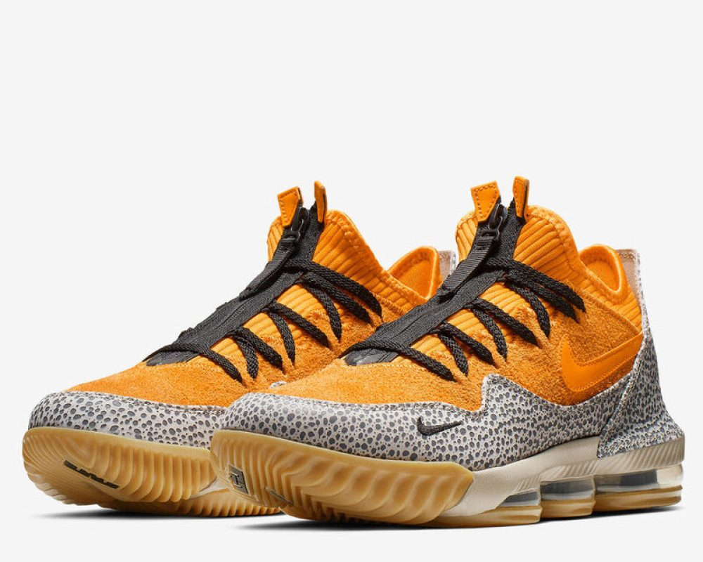 """new product d1e07 6df03 Update 2 25  An official collab, the atmos x Nike LeBron 16 Low """"Safari""""  launches on March 2nd on SNKRS, atmos locations and select retailers."""