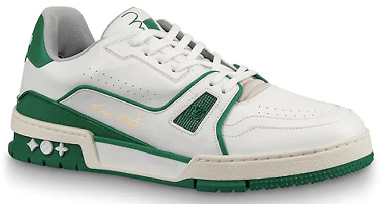 LV Trainer Sneaker White/Green