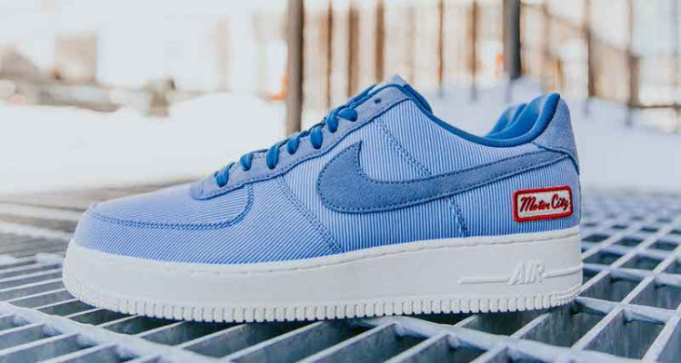 """04ab588fb94f A Detailed Look at the Foot Locker Detroit Exclusive Nike Air Force 1 """"Home"""""""