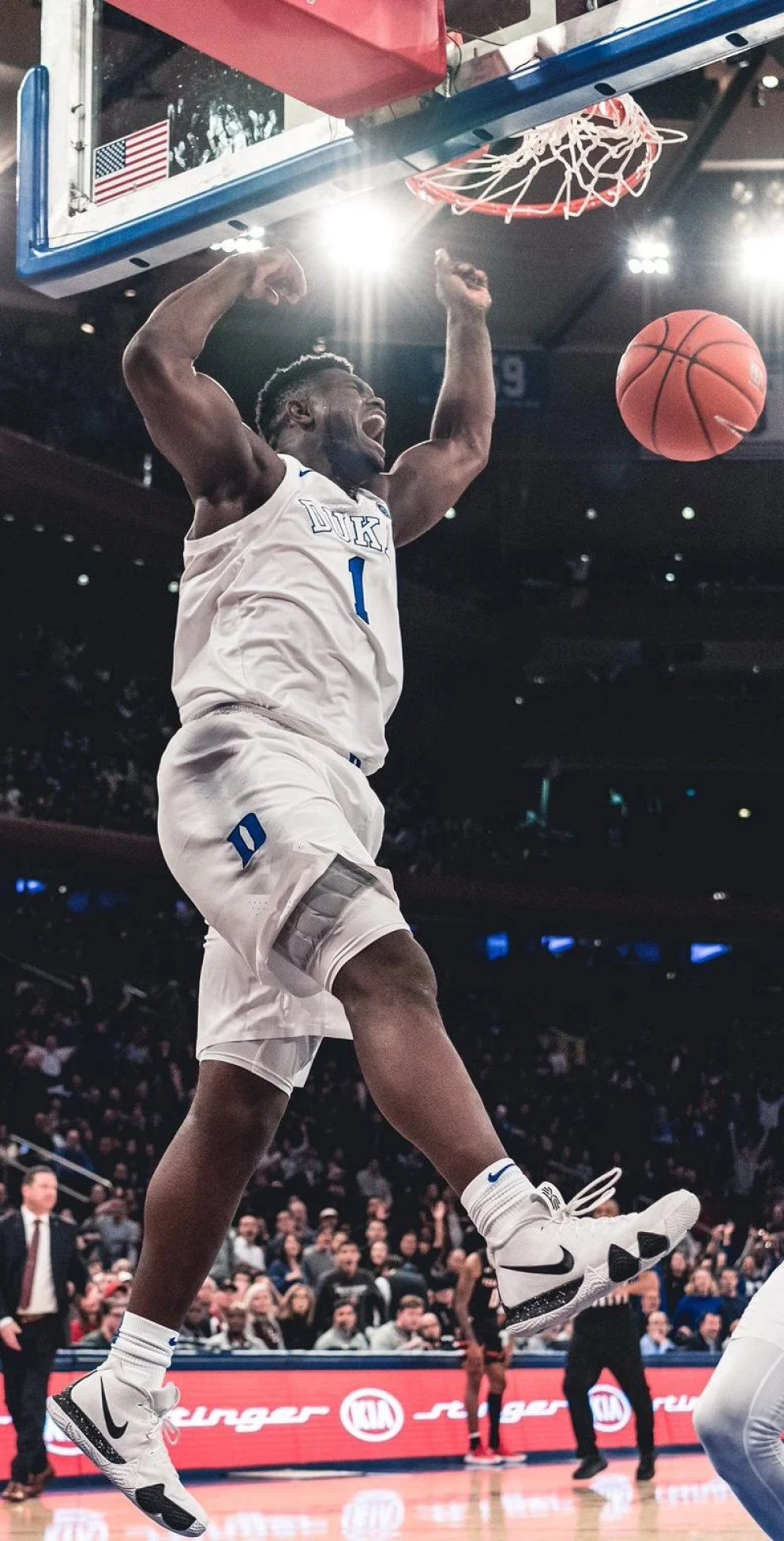 more photos c6466 0d143 ... Zion Williamson in the Nike Kyrie 4 (via Duke Basketball on Twitter) ...