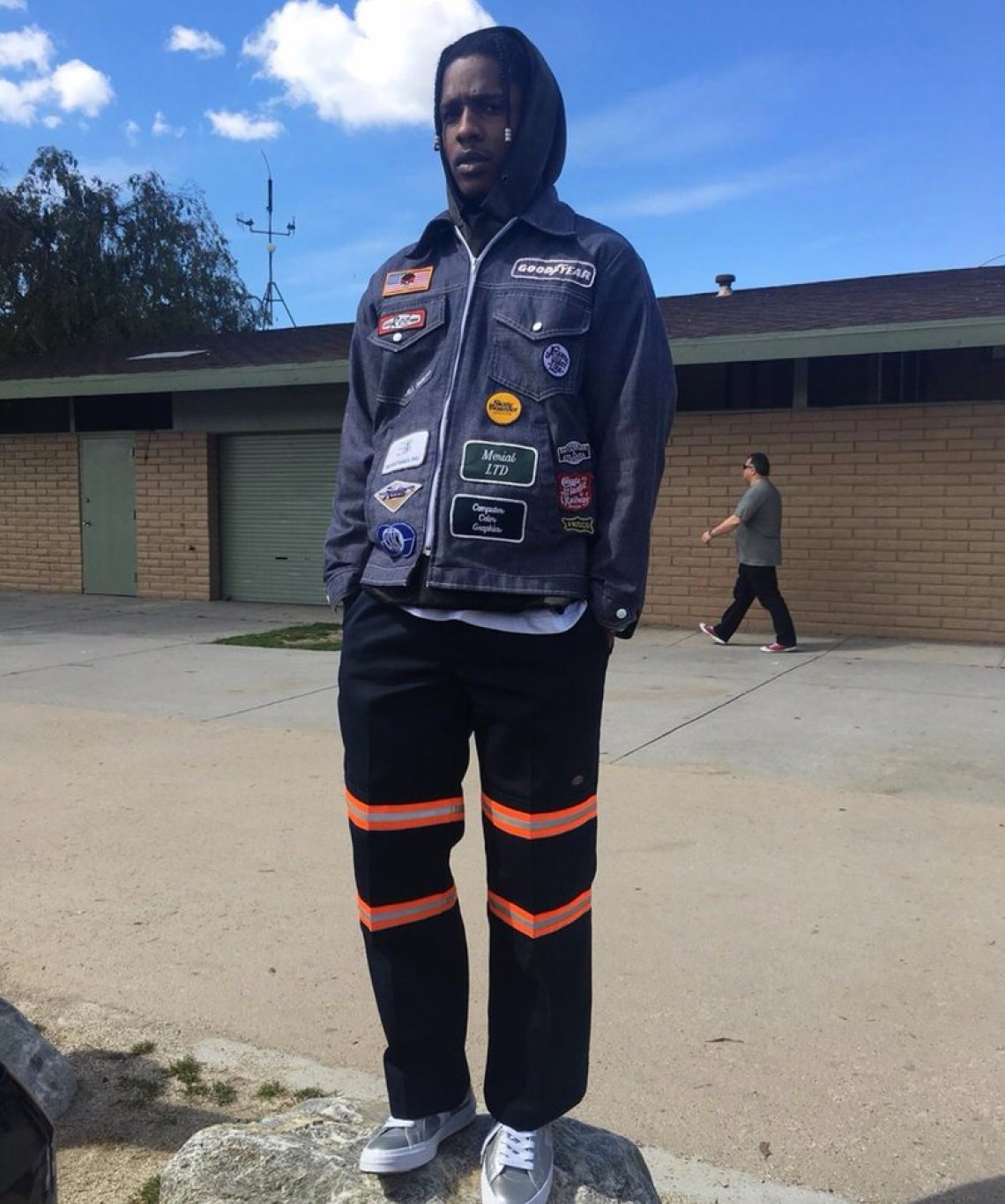 Asap Rocky in the Converse X Golf Le Fleur One Star