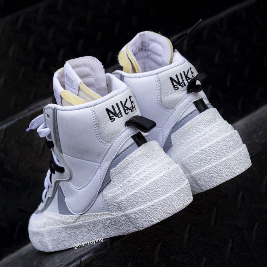 big sale b05d6 96b4a ... Sacai x Nike Blazer Mid White Grey