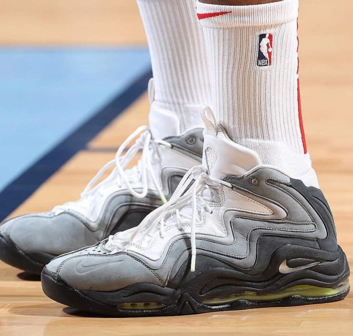 "19b3fd94059eb7 PJ Tucker in the Kith x Nike Air Pippen 1 ""Neon"" Sample (photo by Joe  Murphy via NBA Kicks)"