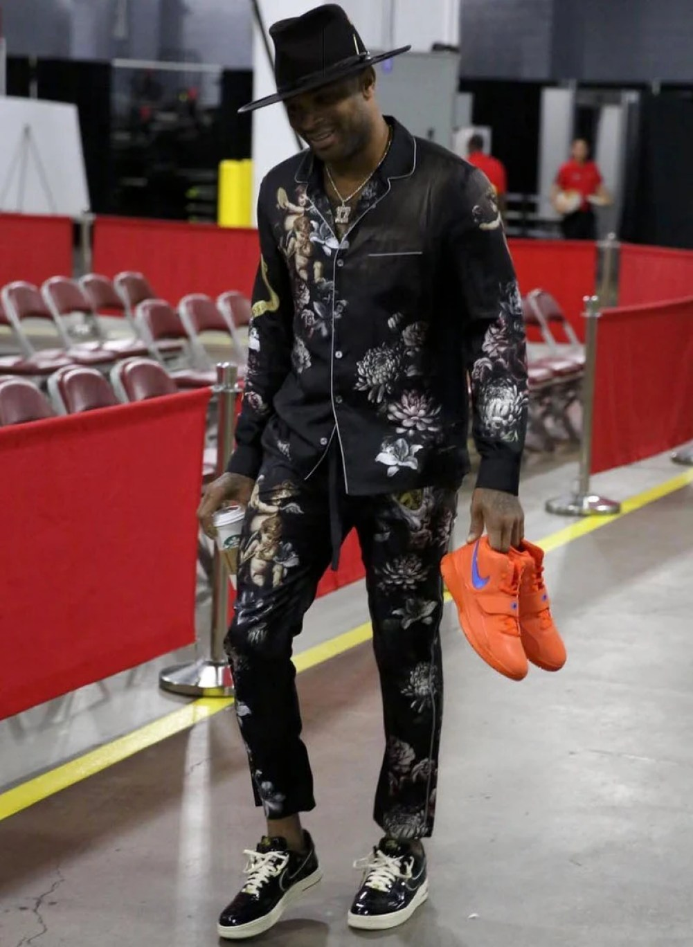 "online store 16bba 3ed3c PJ Tucker in the Nike Air Force 1 Low ""Nigel Sylvester"" ..."