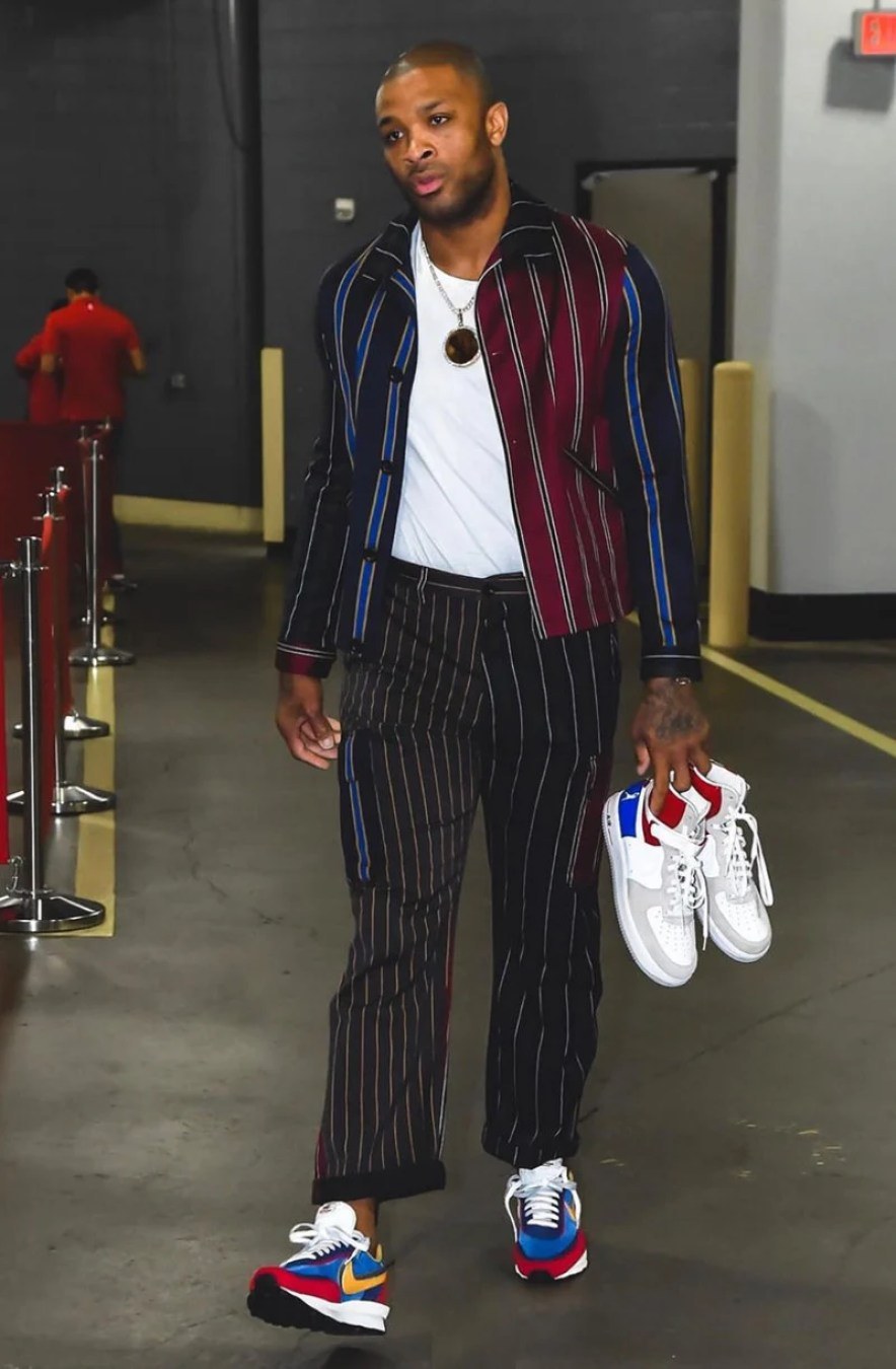 new product ab849 95821 PJ Tucker in the sacai x Nike LDV Waffle (photo by Bill Baptist NBAE via  Getty Images) ...