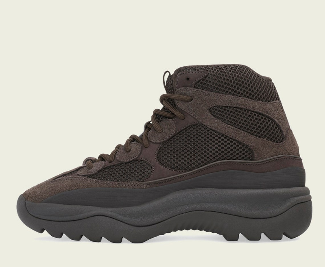 """ef4d887f53b The adidas Yeezy DSRT Boot """"Oil"""" is set to drop on April 20 at select Yeezy  retailers."""