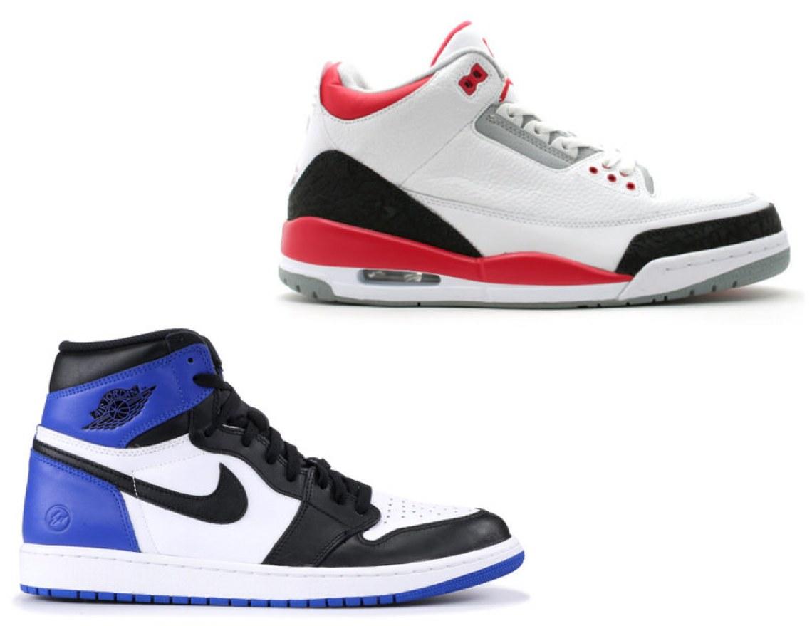 "f7c27e9224d fragment design x Air Jordan 1 + Air Jordan 3 ""Fire Red"" = fragment design  x Air Jordan 3"